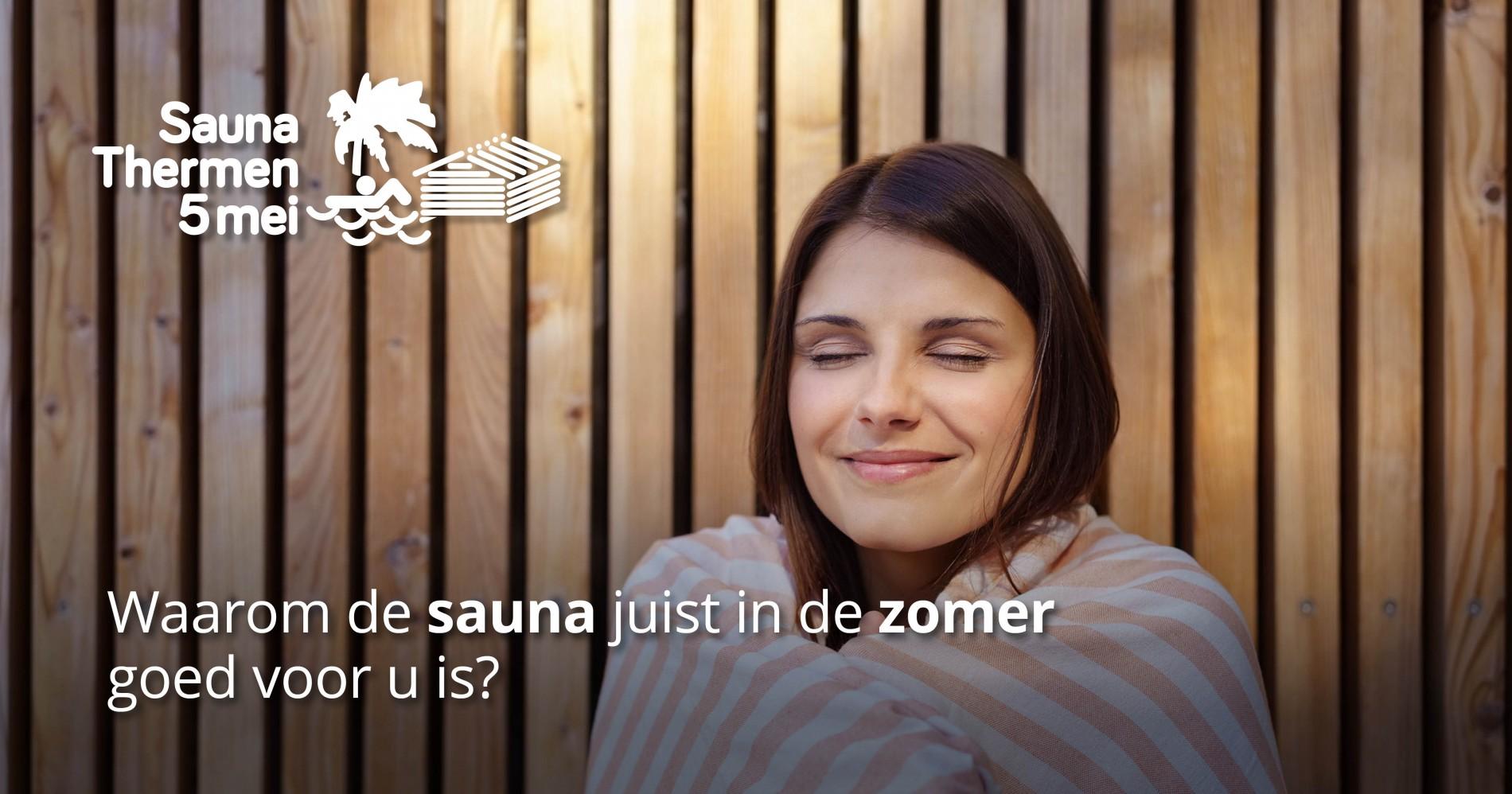 Sauna in de zomer