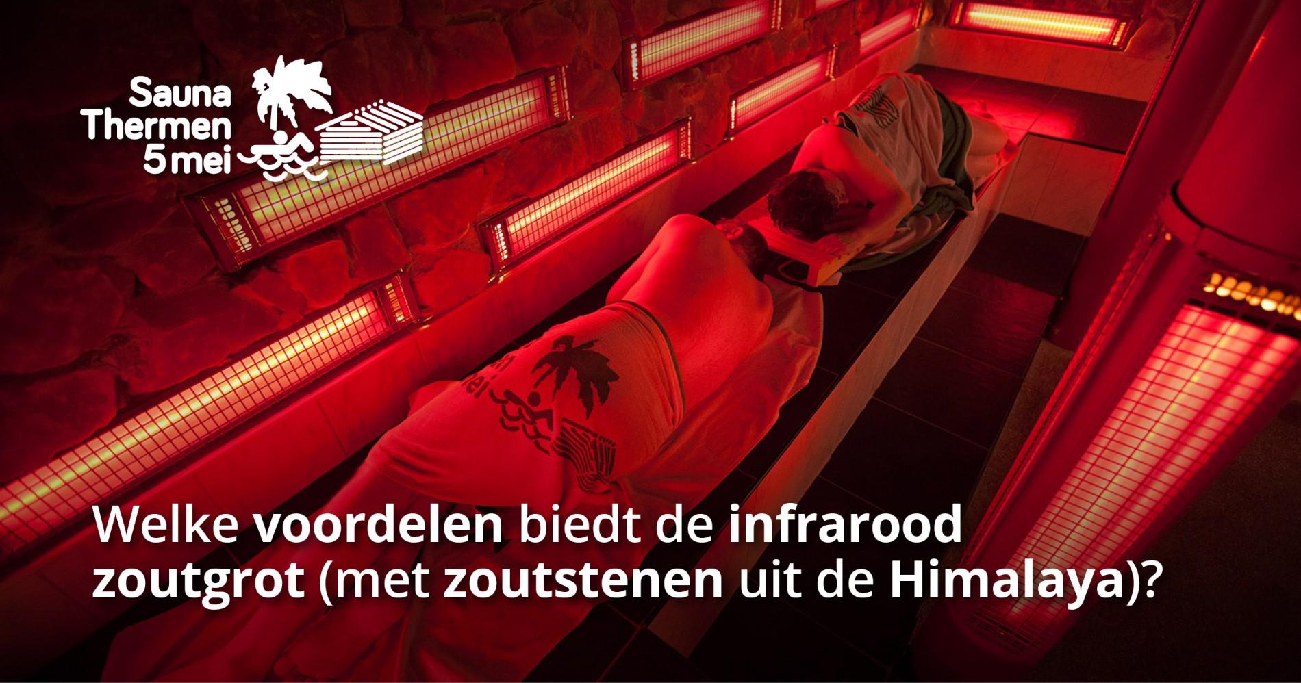 Saunathermen 5 mei - infrarood met zoutstenen